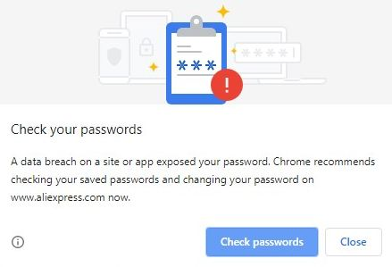 Disable Check your passwords popup on Chrome
