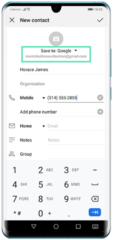 Add contacts on Huawei-3-a