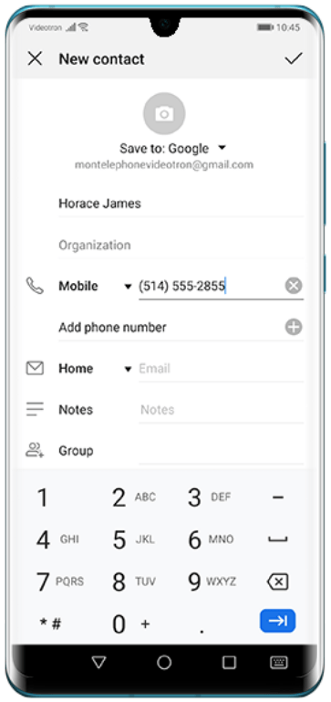 Add contacts on Huawei-3