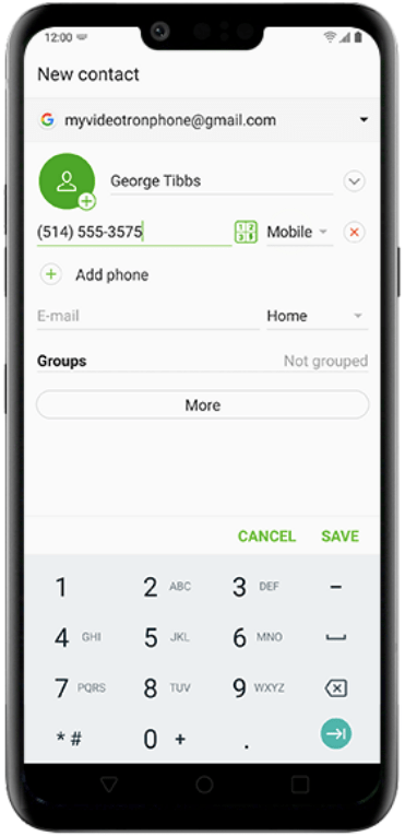 Add contacts on LG-4