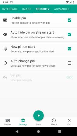 Screen Stream over HTTP-2