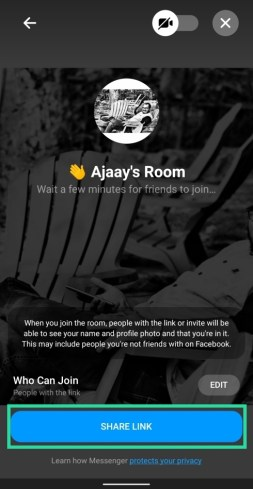How to use Facebook Messenger rooms-8-a