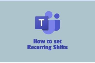 Microsoft Teams recurring shifts