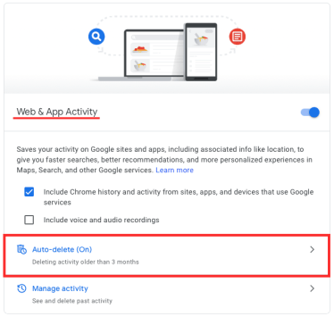 How to delete your Google activity automatically-1-a