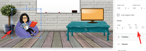 bitmoji classroom google scene interactive virtual described editing adjust however techniques environment elements teaching using into