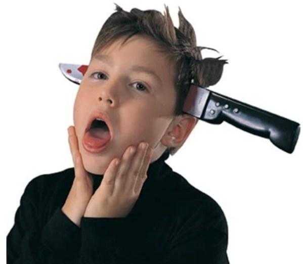 Among Us Halloween Knife Head