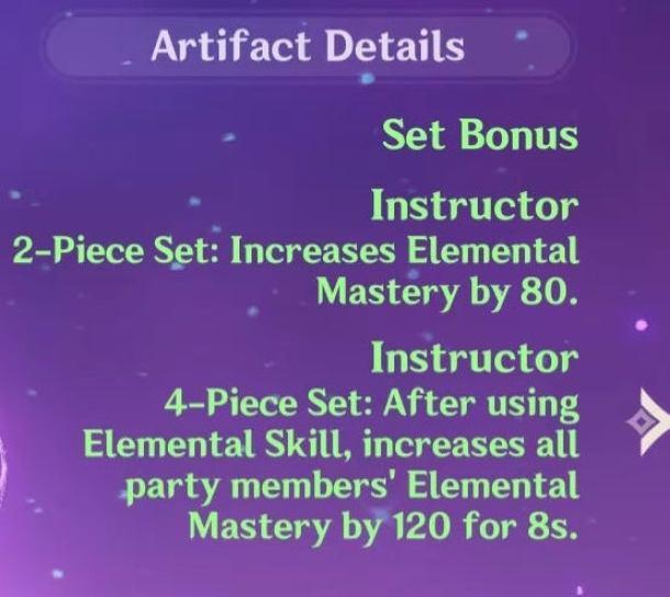 Genshin Impact Elemental Mastery Instructor's Set