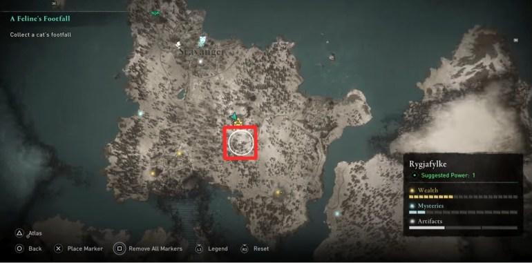 AC Valhalla Weapon List - AC Valhalla Weapon Locations Map showing Hammer