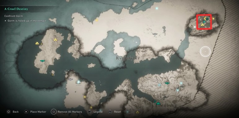 AC Valhalla Weapon List - Map showing AC Valhalla Weapon Locations for Flail