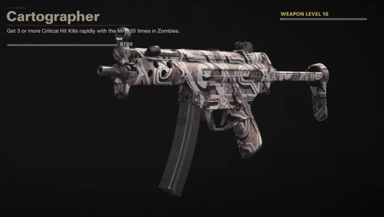 Black Ops Cold War Zombies Camo Challenges - Cartographer