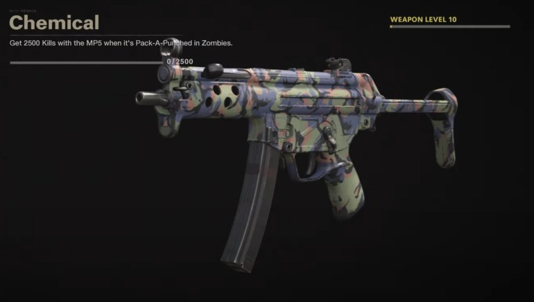 Black Ops Cold War Zombies Camo Challenges - Chemical