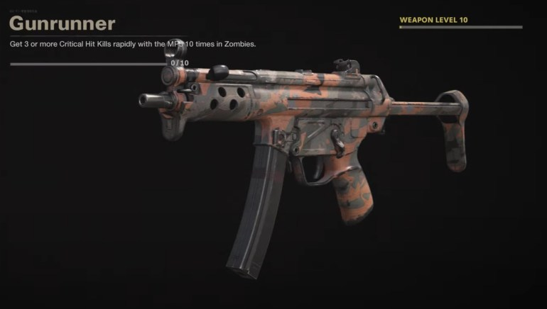 Black Ops Cold War Zombies Camo Challenges - Gunrunner