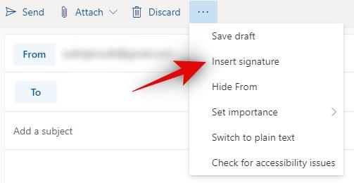 Cara menyisipkan Tanda Tangan di Outlook di web