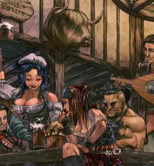 bard in a tavern dnd