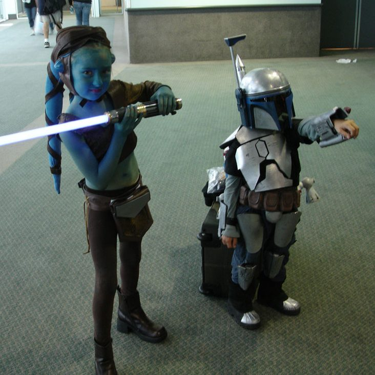 Ayla Secura and Jango Fett