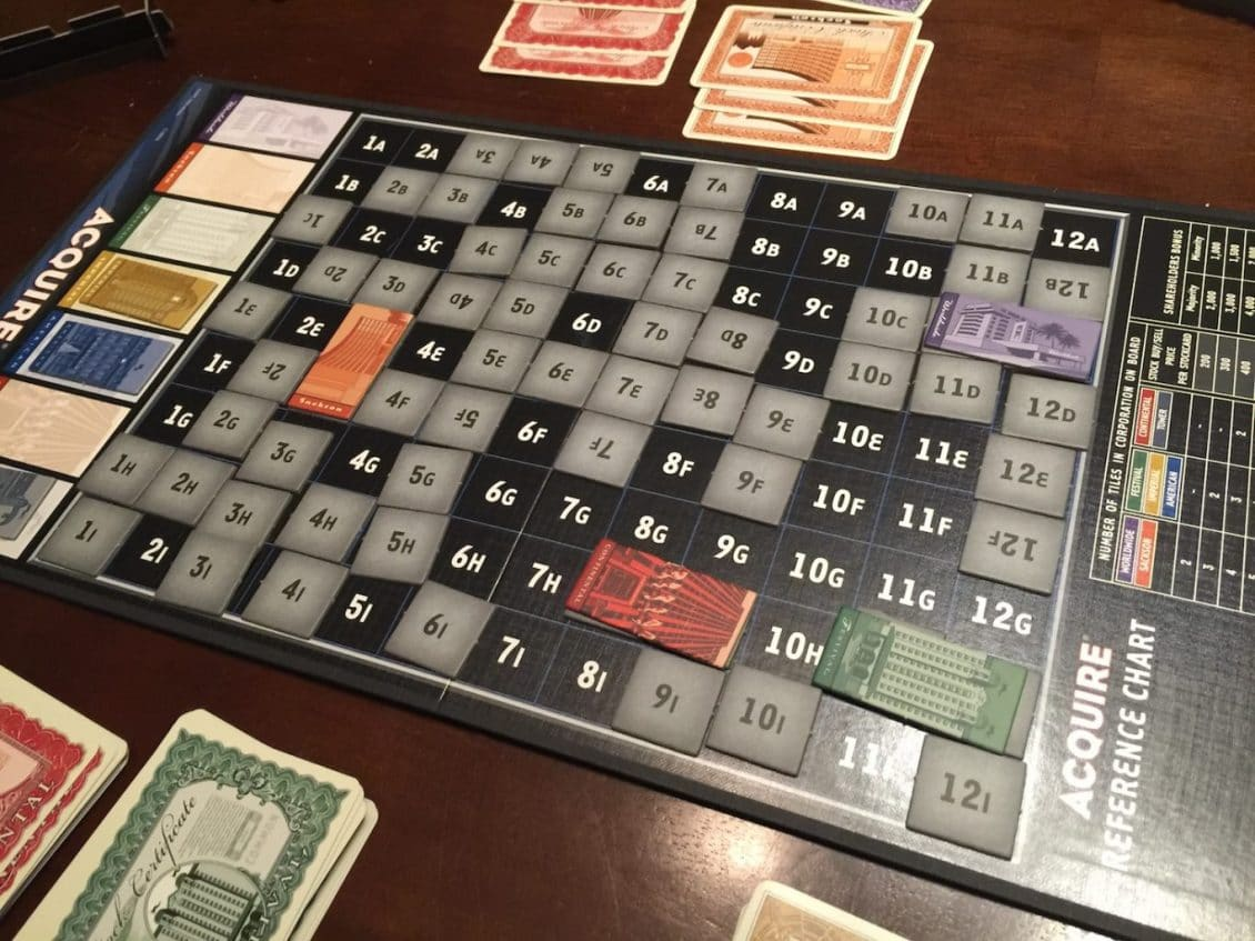Review of Acquire, the Board Game with Many More Buyers than Sellers image