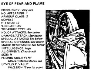 The Eye of Fear and Flame