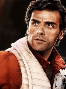 Poe Dameron Starfinder Build, intensely gazing off into the distance.