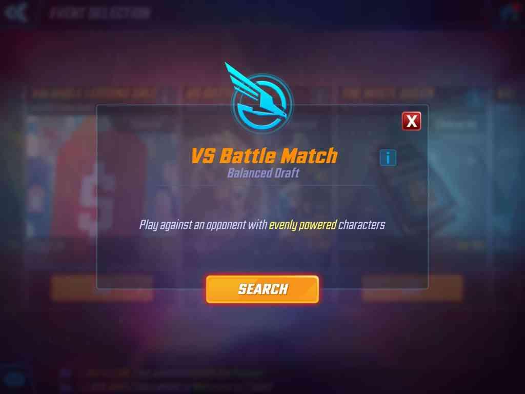 Marvel Strike Force Balanced Draft VS Battle Match