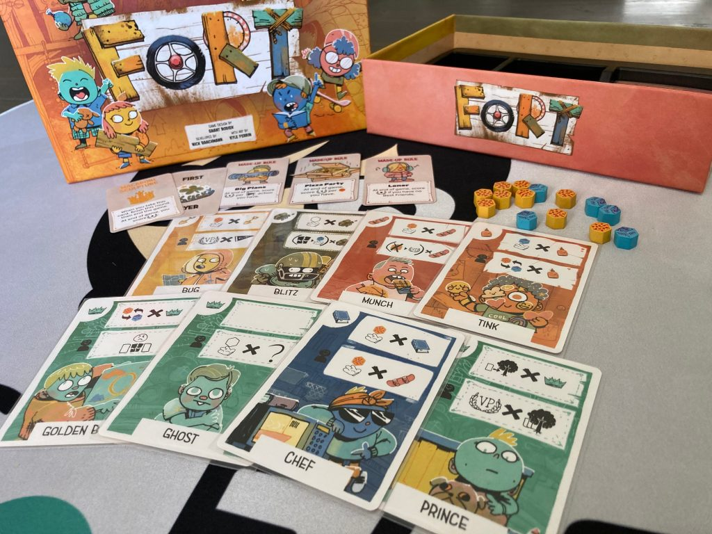 Fort Board Game Friend cards