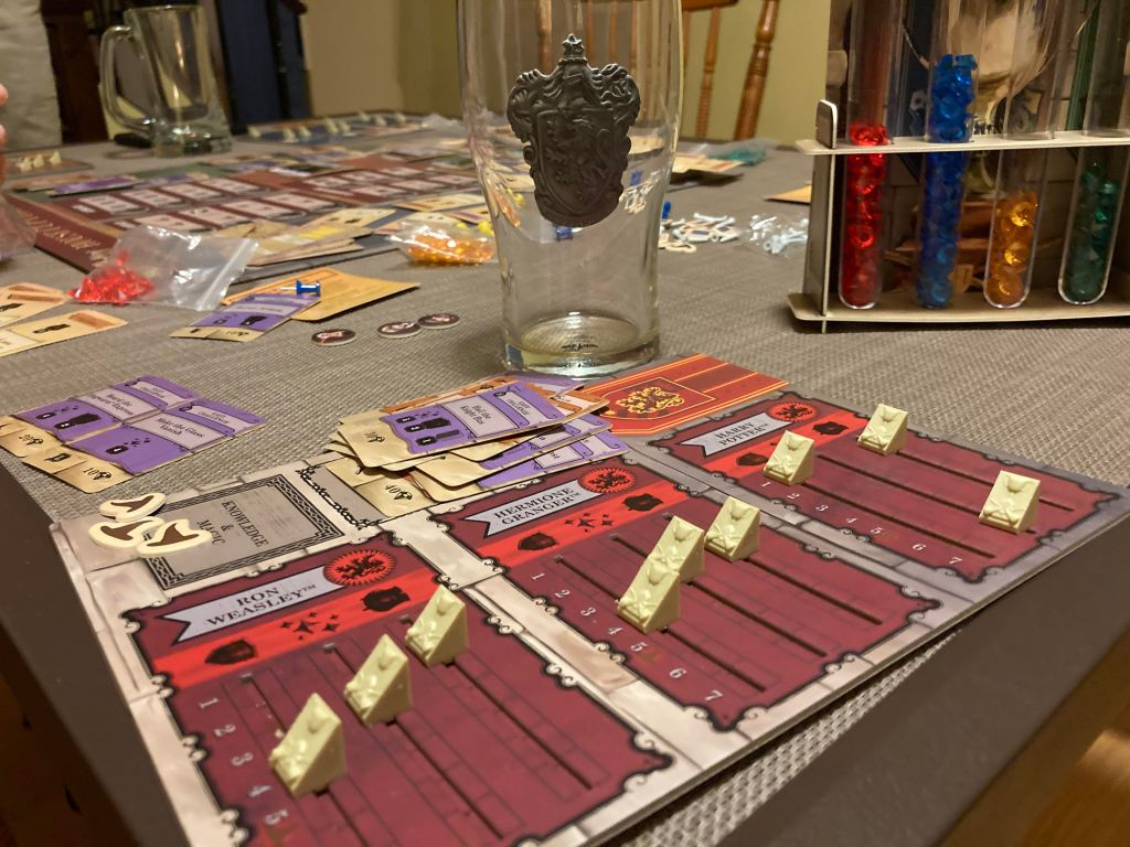Harry Potter house cup competition player boards