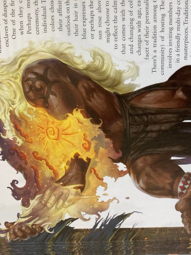 The first hair dying for the Taralu is a coming of age milestone, in Lost Omens Mwangi Expanse by Paizo