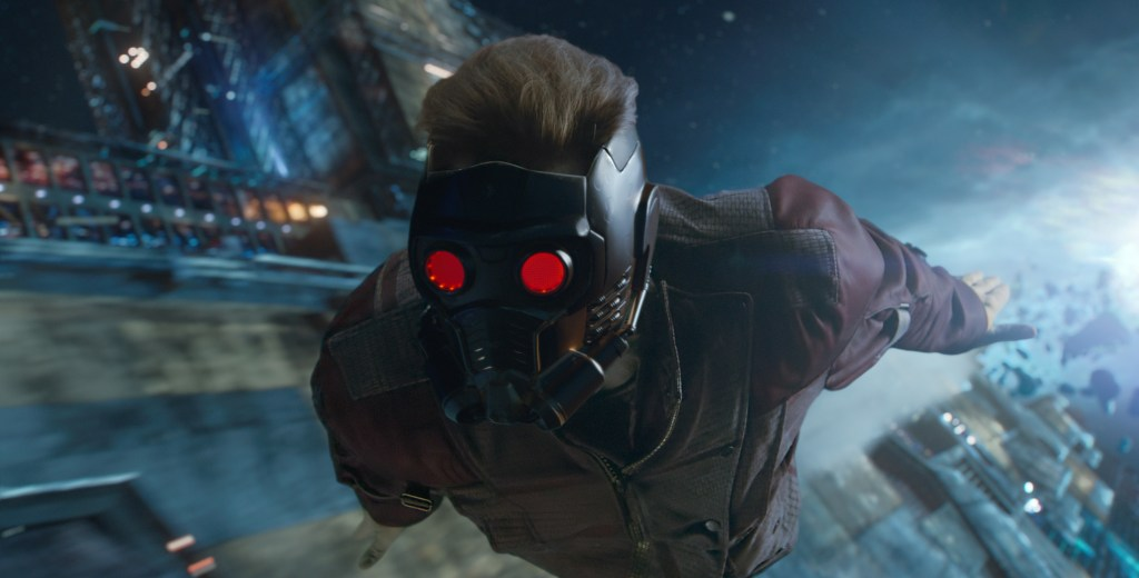 star lord flying through space