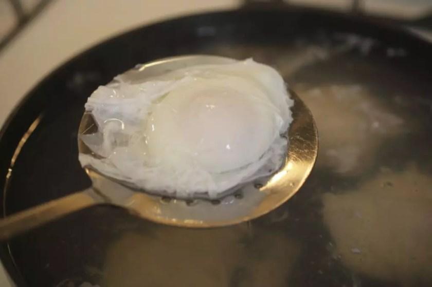 Egg poaching process