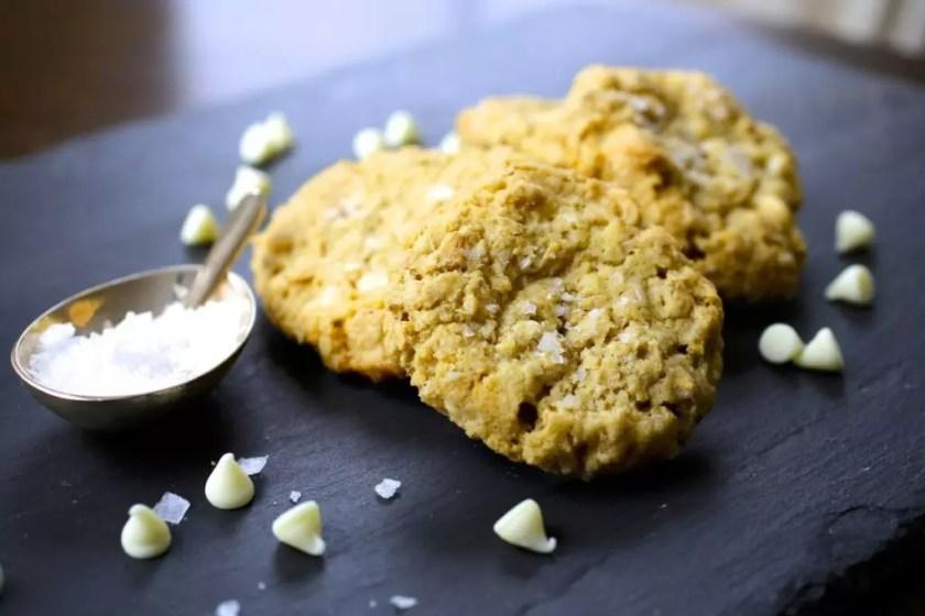 Sea Salt, Oatmeal and White Chocolate Cookies