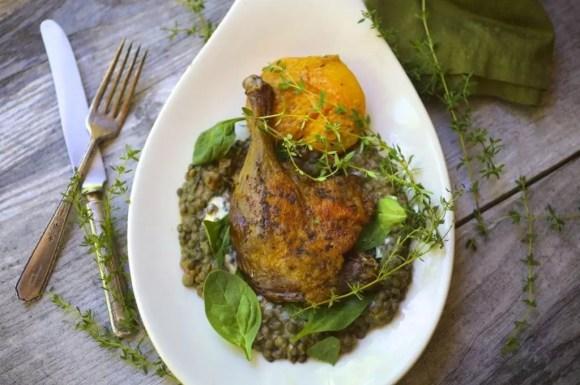 Crispy Spiced Duck Legs with Thyme