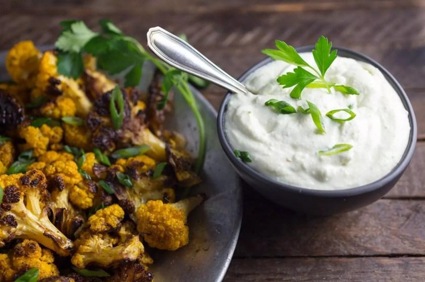 Cumin-Roasted Cauliflower with Whipped Feta