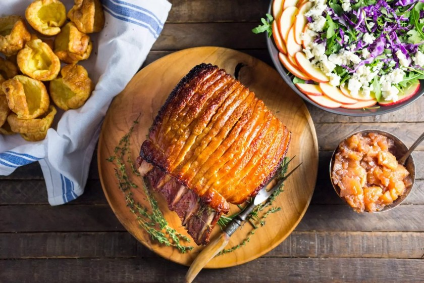 Garlic and Herb Roasted Pork Loin with Crackling