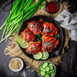 Sticky Gochujang Honey Chicken