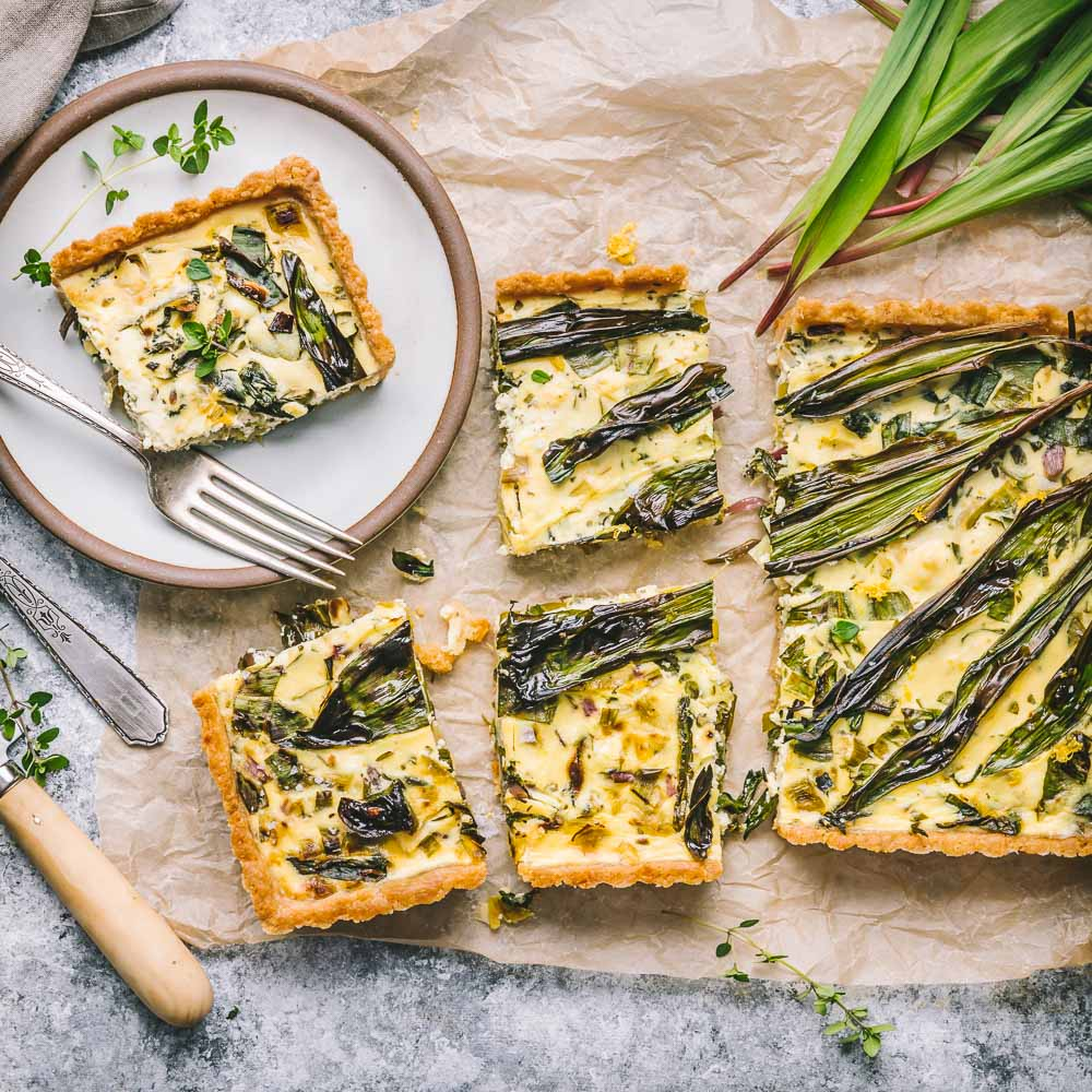 Ramp, Leek and Goat Cheese Tart
