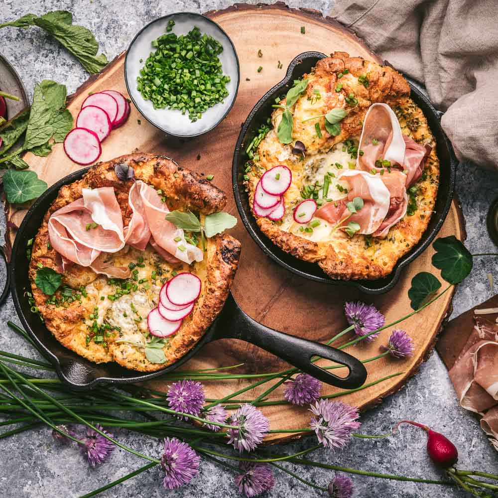 Cheddar and Chive Dutch Babies CABOT