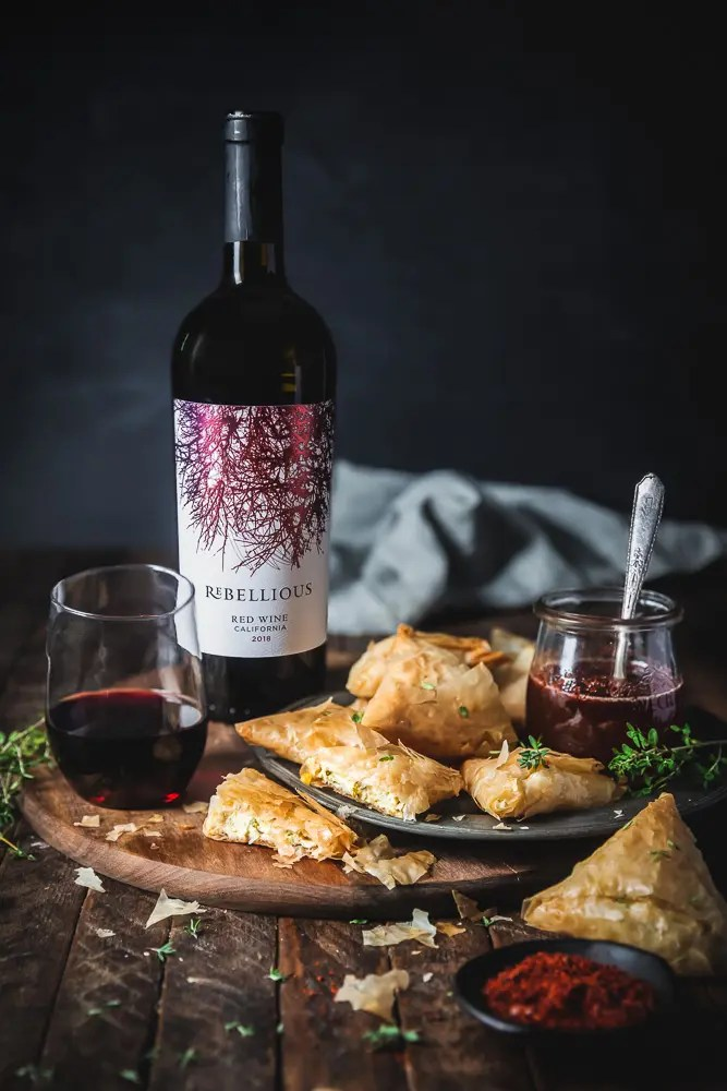 CAKEBREAD REBELLIOUS Phyllo Goat Cheese Triangles
