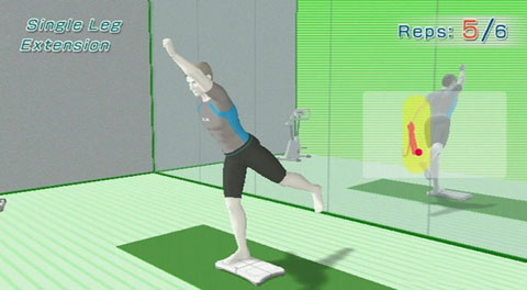 Nintendo Wii Fit strength single leg extension game NEW