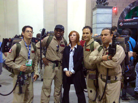 San Diego Comic Con, Ghostbusters and Skully from X-Files