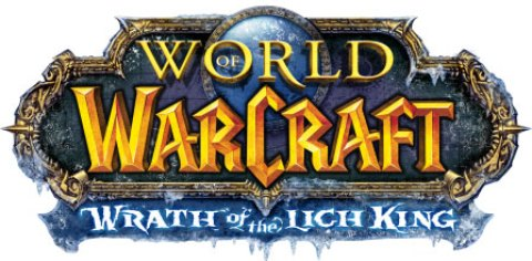 World of Warcraft expansion Wrath of the Lich King logo by Blizzard Entertainment