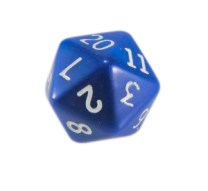 RPG Dungeons and Dragons dice d20