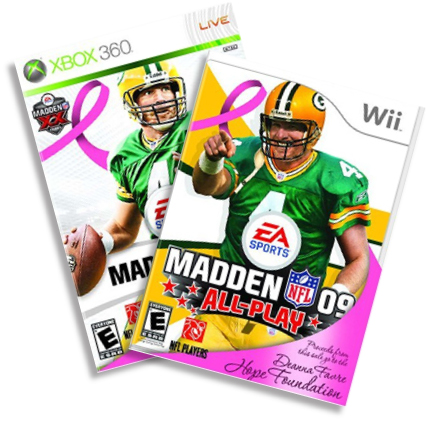 Limited edition Madden NFL 09 Pink with Brett Favre