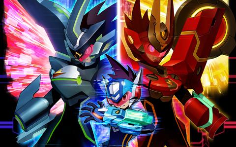 Mega Man Star Force 3 Black Ace and Red Joker