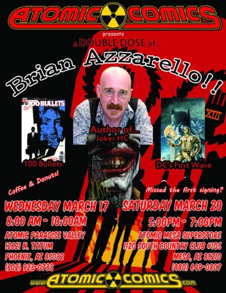 Azzarello at Atomic Comics