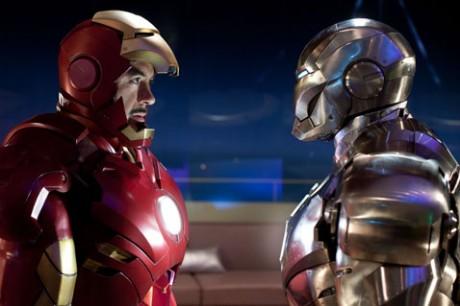 """Robert Downey Jr. (left) stars as billionaire industrialist Tony Stark, aka Iron Man, in """"Iron Man 2."""""""