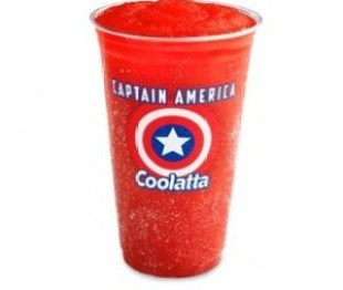 Captain America Coolatta at Dunkin' Donuts