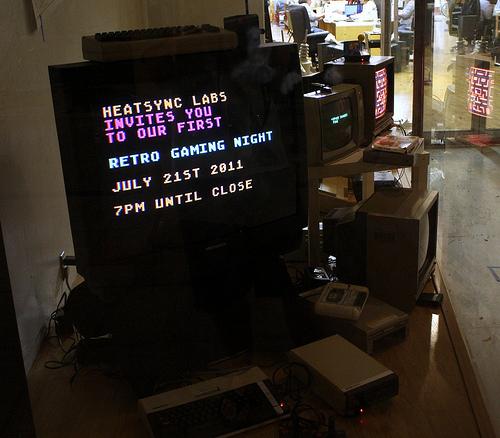 Retro Gaming Night at HeatSync (Photo by Ryan Rix)