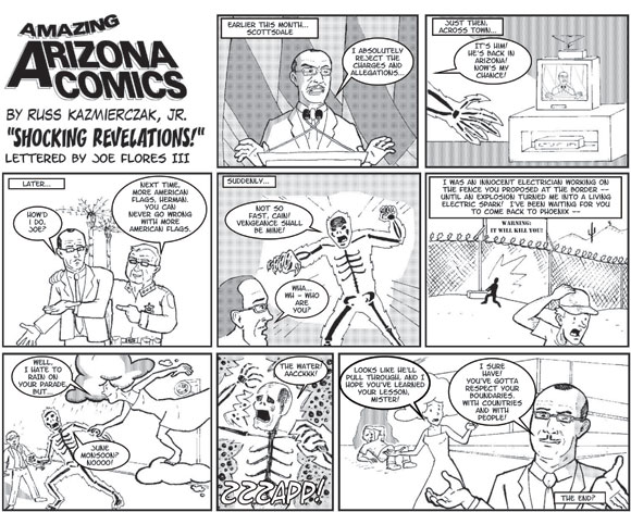 "Amazing Arizona Comics by Russ Kazmierczak Jr. - ""Shocking Revelations!"""