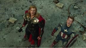 Thor & Captain America in The Avengers