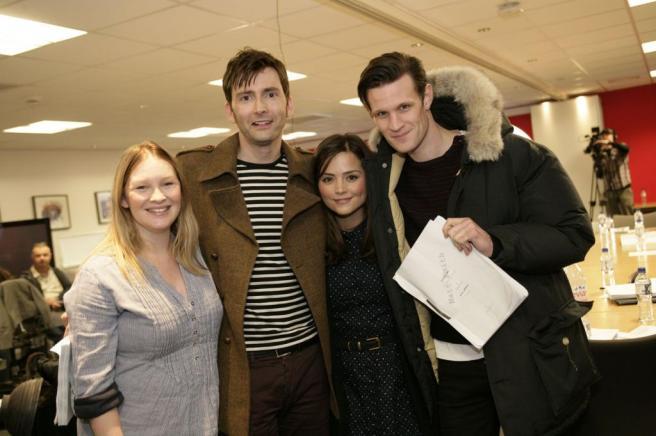 Joanna Page, David Tennant, Jenna-Louise Coleman and Matt Smith