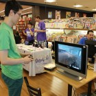 A small casual gaming station was set up for attendees.
